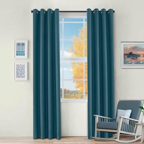 Miranda Haus Jaxon Thermal Blackout Grommet Curtain Panel Set