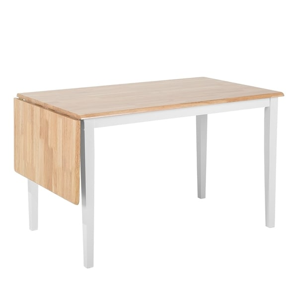 White And Brown Dining Table: Shop Extendable Dining Table Rubberwood White And Brown