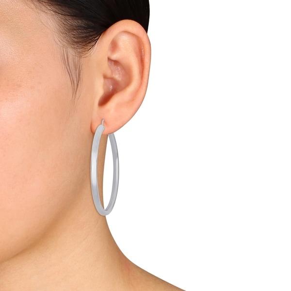 14K Yellow Gold 3.5mm Thickness Diamond Cut Polished Fancy Cut Hoop Earrings