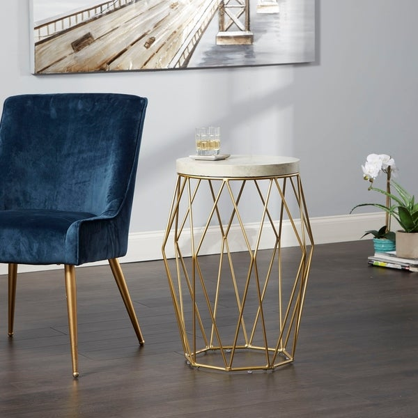 Shop 26 Bellewood Mid Century Modern Wire Basket Accent Table