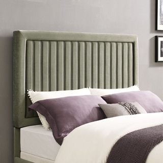 Grayson King/Cal King Headboard In Granite Microfiber