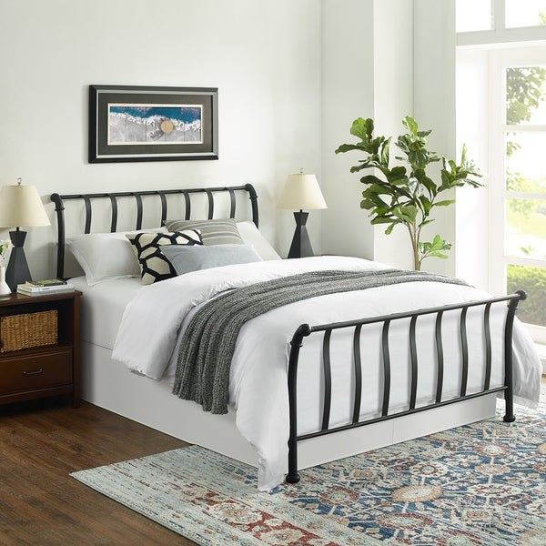 Shop Raleigh Queen Metal Headboard And Footboard Free