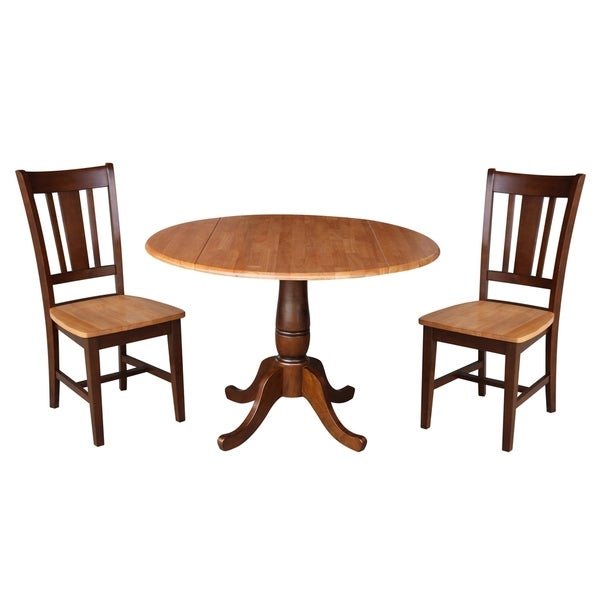"""42"""" Round Top Pedestal Table with 2 Chairs"""
