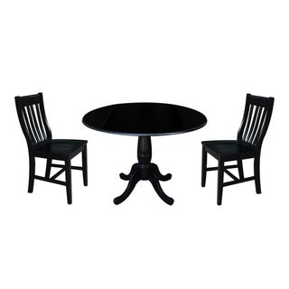 "42"" Round Top Pedestal Table with 2 Chairs"