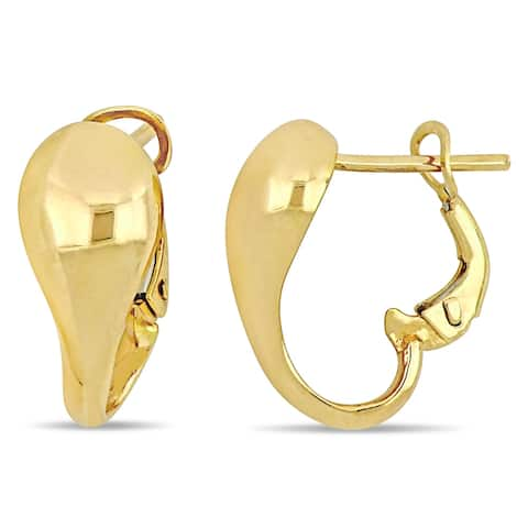 Miadora 18k Yellow Gold Abstract Heart Inspired Cuff Hoop Earrings