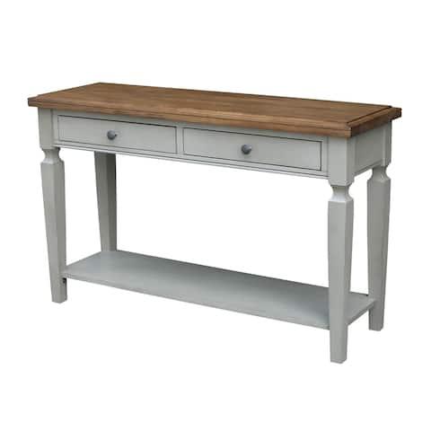 Vista Console/Sofa Table, Hickory/Stone Finish