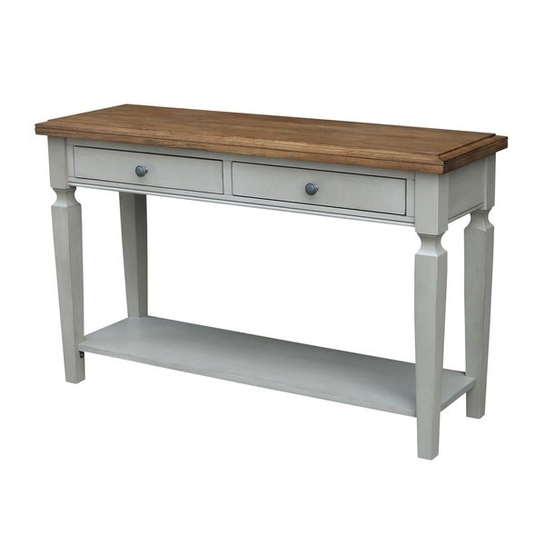 Vista Console/Sofa Table, Hickory/Stone Finish