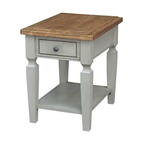 Vista End Table, Hickory/Stone Finish