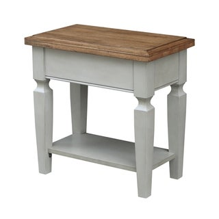 Vista Side Table, Hickory/Stone Finish