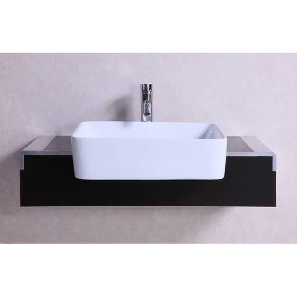 Shop 32 Inch Belvedere Modern Wall Mounted Espresso Bathroom