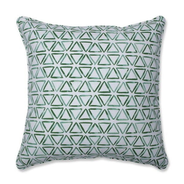 Painted Triangles Verte Throw Pillow