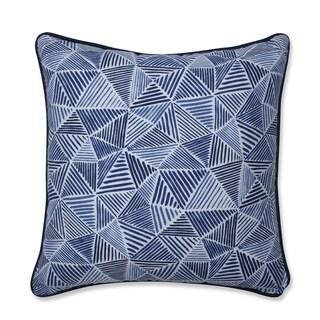 Pillow Perfect Stitches Ocean Throw Pillow