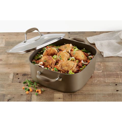 Anolon Advanced Hard-Anodized 7-Quart Covered Square Dutch Oven