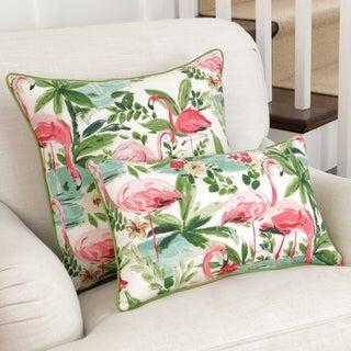 Pillow Perfect Floridian Flamingo Bloom Throw Pillow