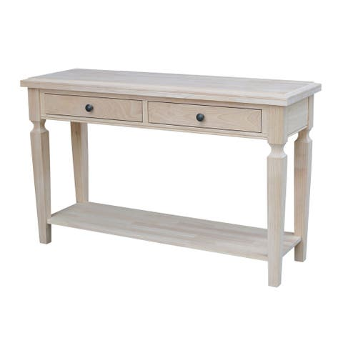 Vista Console/Sofa Table, Unfinished