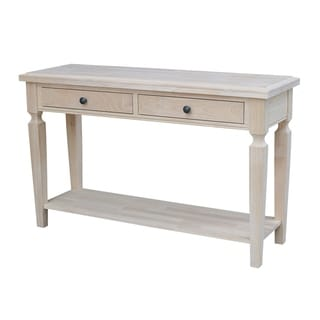 Vista Console/Sofa Table, Unfinished