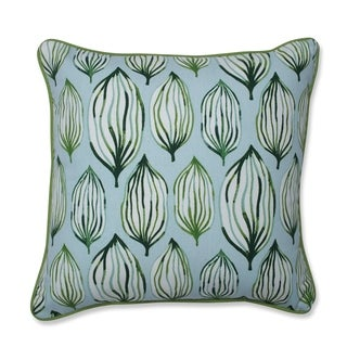 Pillow Perfect Tropical Leaf Verte Throw Pillow