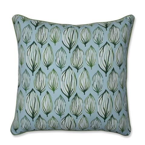 Pillow Perfect Tropical Leaf Verte Throw Pillow