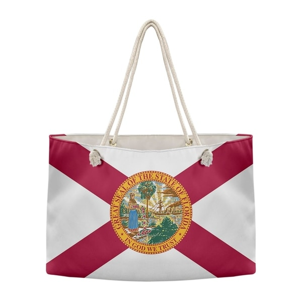 Katelyn Smith Florida Flag Weekender Tote With Rope Handle