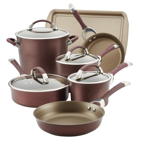 Circulon Symmetry Hard-Anodized 9-Piece Cookware Set. Opens flyout.