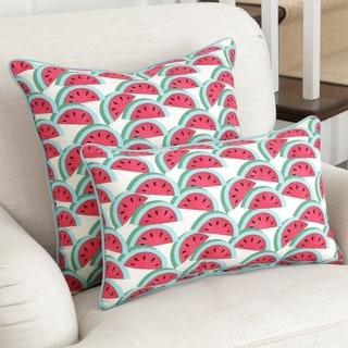 Pillow Perfect Watermelon Fushia Throw Pillow