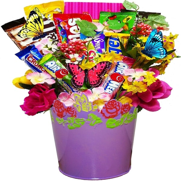 Springtime Candy And Chocolate Bar Bouquet Gift Basket Perfect Motherx27s Day