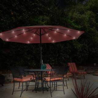 Havenside Home Boynton 10-foot Patio Umbrella with Solar Powered LED Lights