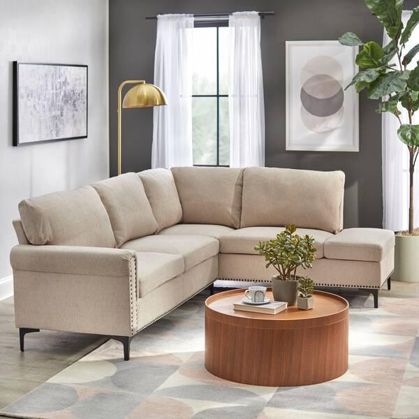 Shop Simple Living Orinda Sectional Sofa - On Sale - Free ...