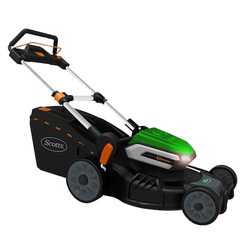 Scotts 21- Inch Cordless 62 Volt Lithium Lawn Mower w/ Lights