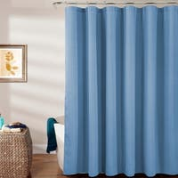 Warwick Textured Shower Curtain with Roller Hooks