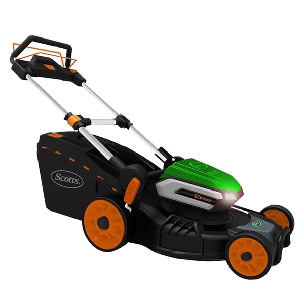 """Scotts 21- Inch Cordless 62 Volt """"Self Propelled"""" Lawn Mower"""