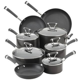 Circulon Contempo Hard-Anodized 13-Piece Nonstick Cookware Set, Black