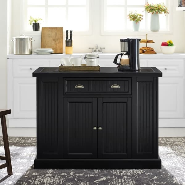 Peachy Shop Seaside Kitchen Island In Black On Sale Free Download Free Architecture Designs Embacsunscenecom