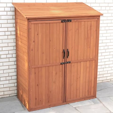 Storage Shed with Pull Out Crates - Medium