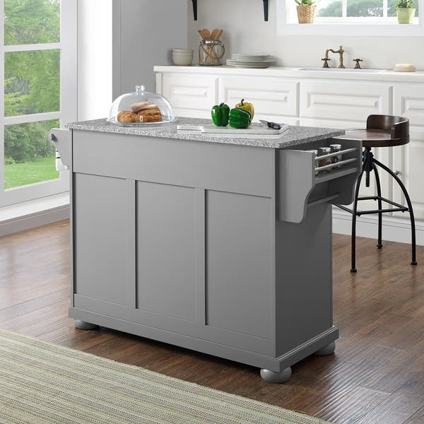 Shop Alexandria Solid Granite Top Kitchen Island In Vintage