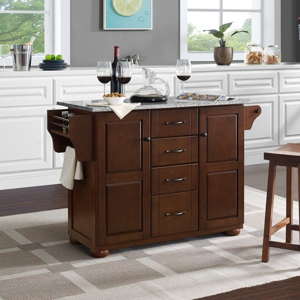 Shop Eleanor Natural Wood Top Kitchen Island Free Shipping Today