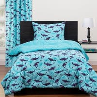 Highlights Shark Sleepover Full/Queen Reversible Comforter Set