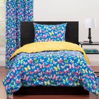 Highlights Brilliant Butterflies Full/Queen Reversible Comforter Set