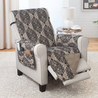 Recliner Furniture protector French Damask Black/Taupe