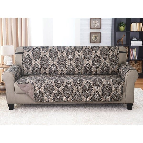 Sofa Furniture Protector - French Damask Black/Taupe