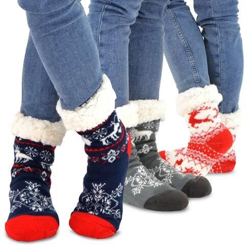 Teehee Womens Premium Thermal Double Layer Crew Sock 3-Pack