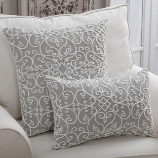 Porch & Den Ledroit Stone Feather Filled Decorative Throw Pillow