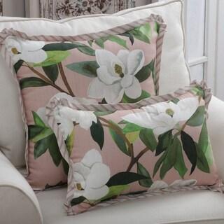 Porch & Den Longacres Rose Color Magnolia Throw Pillow
