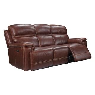 Oliver Pierce Gordon Brown Top-grain Leather Power Reclining Sofa