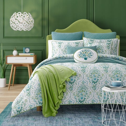 Five Queens Court Kinsley Teal Bohemian Comforter Set