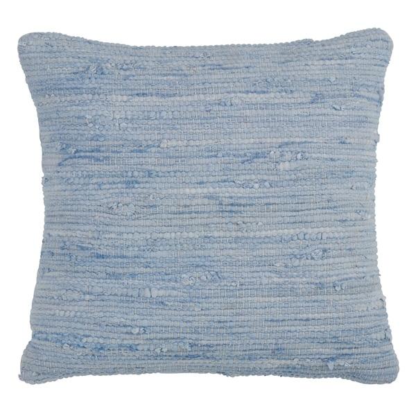 Saro Lifestyle Chindi Design Cotton Down Filled Throw Pillow
