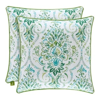 Porch & Den Aebischer Teal 18-inch Square Throw Pillow