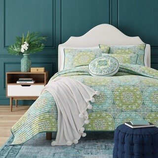 Five Queens Court Ava Bohemian Quilt Coverlet