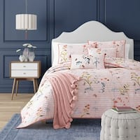 Five Queens Court Blakely Floral Quilt Coverlet