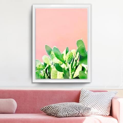 Ready2HangArt 'Heat Rise' Framed Succulent Canvas Wall Art